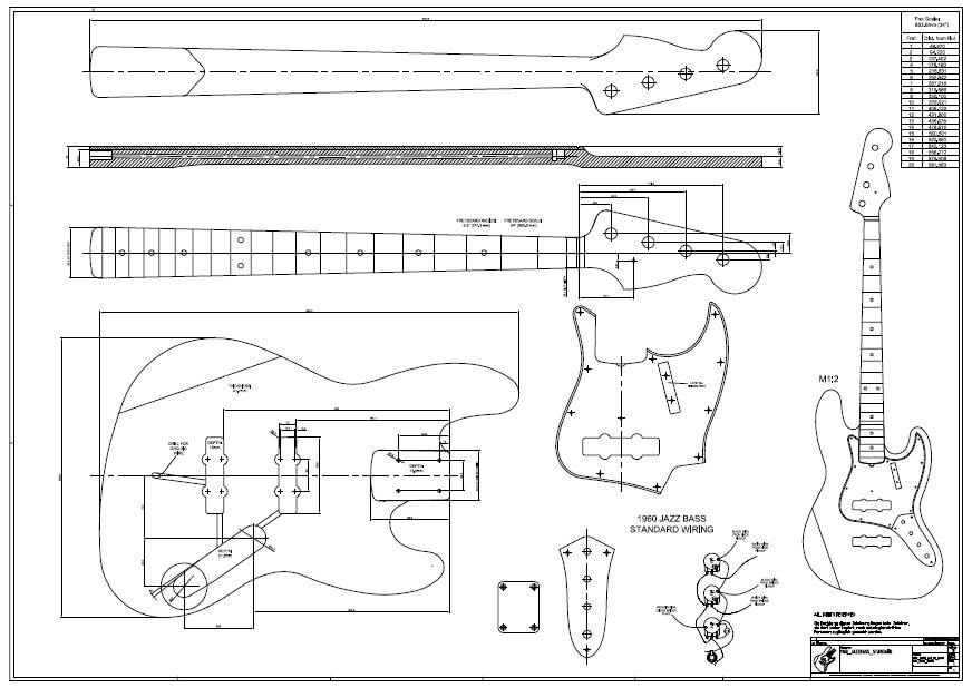 1960 j bass zeichnung gitabou for Jazz bass pickguard template