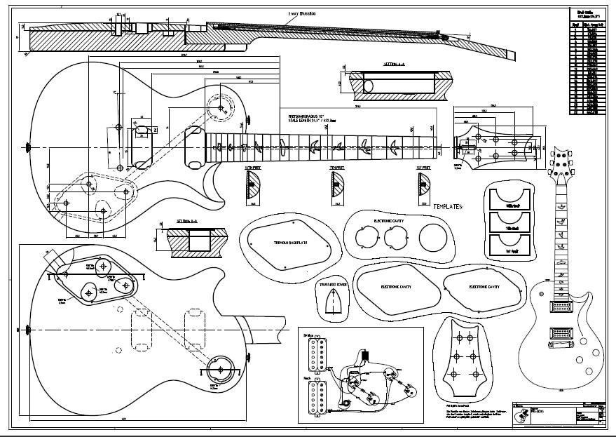 prs sc245 - zeichnung
