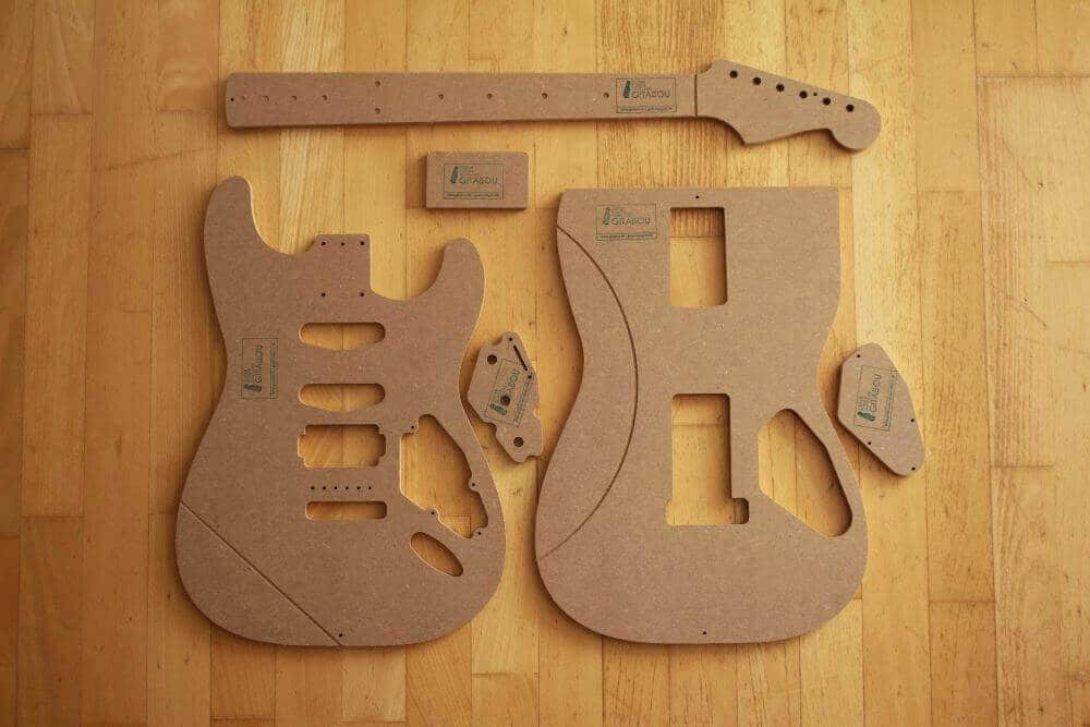 Rear Routed Strat Template Set 8mm 12mm Gitabou